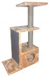 Домик ДЖЕРРИ с плоской когтеточкой h-105 см