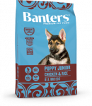 Banters Puppy Junior для щенков всех пород с курицей и рисом